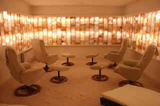 Salt therapy room