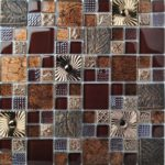 TST Glass Mental Tile Brown Southwest Style Stainless Backsplash Kitchen Archaistic Flower Patter Wall Deco (2)-800x800